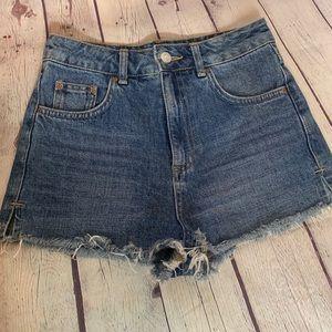 Topshop Vintage Moto Mom Shorts Size 2